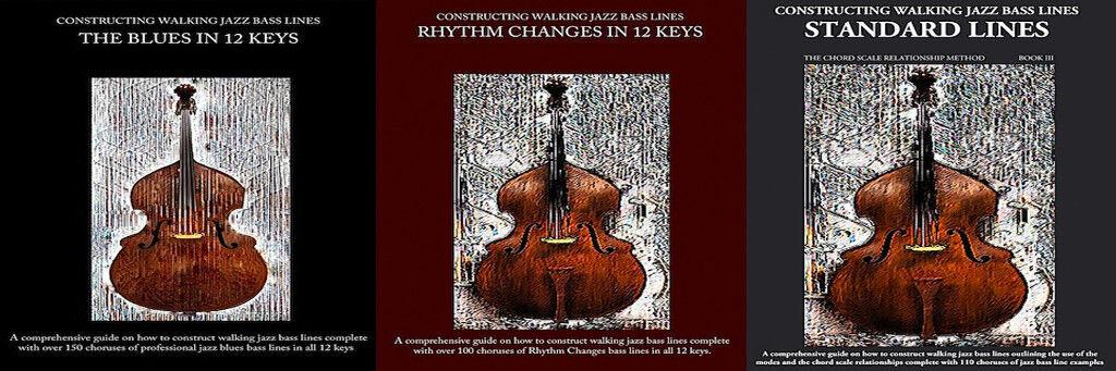 Jazz Bass Lines Method Books I II & III set