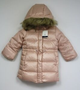 57265e93c90a Gap Baby girls long down puffer jacket coat faux fur hood pockets ...