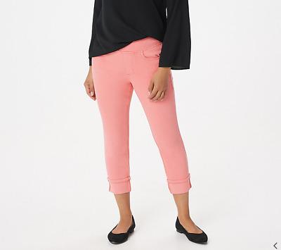 Belle Kim Gravel Petite Flexibelle Cuffed Jeans Dark Indigo 16P NEW A345863