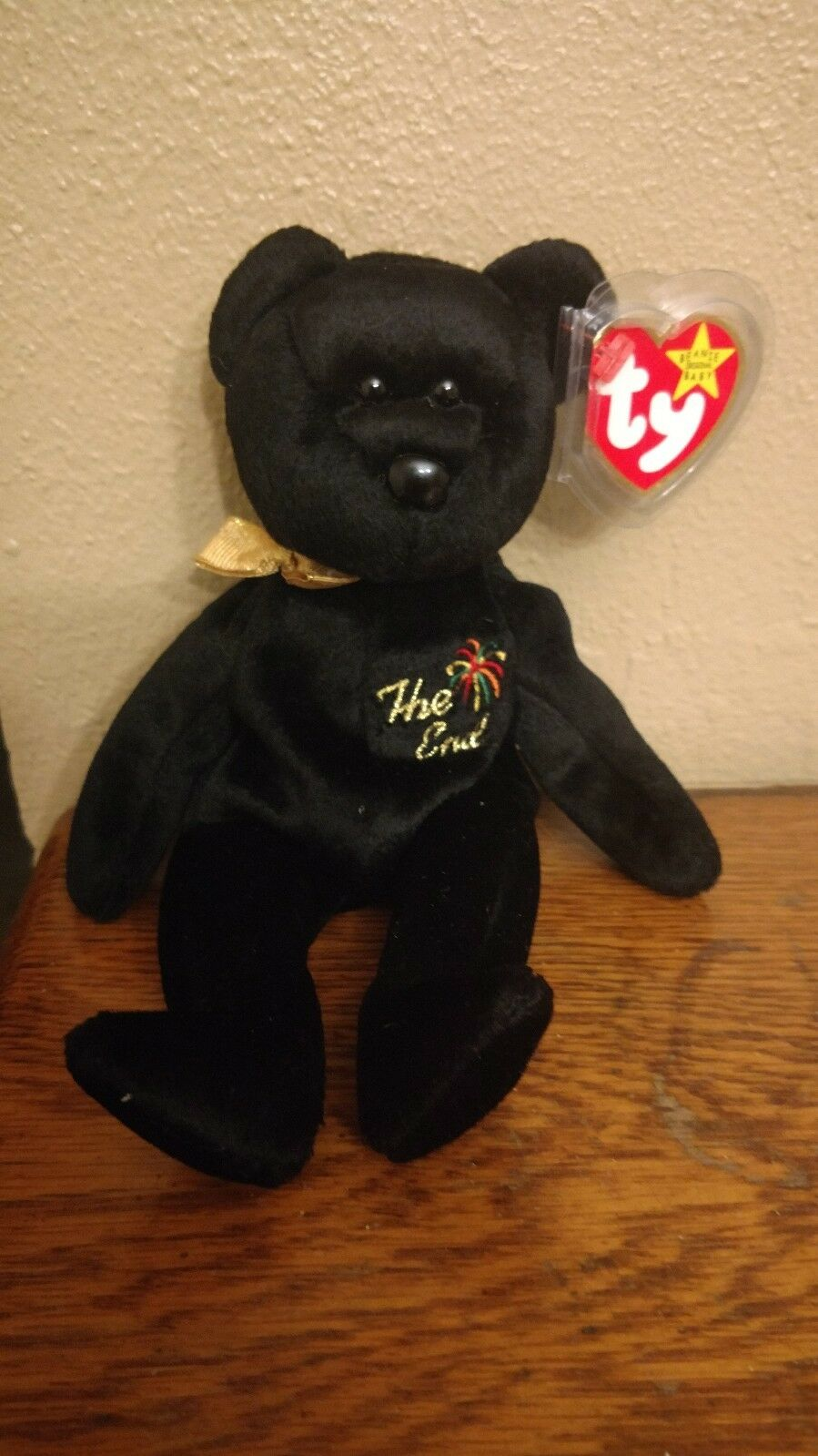 VERY RARE Ty Beanie Baby  The End  COLLECTIBLE w  ERRORS - Excellent Condition