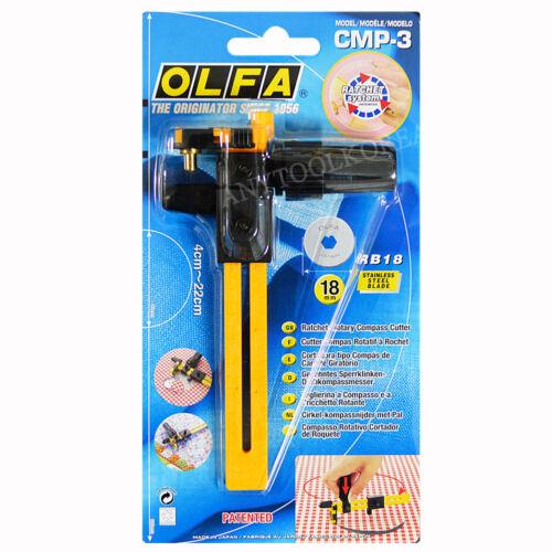 de 4 cm à 22 cm OLFA Rotary Circle Cutter CMP-3 pour couper tissu cercles
