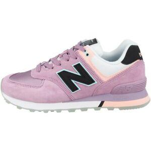 New Balance WL 574 SAW Wide Schuhe Sneaker canyon violet peach soda WL574SAW