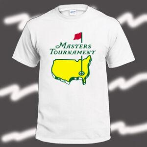 Masters-Tournament-Golf-Logo-Men-039-s-White-T-Shirt-Size-S-3XL