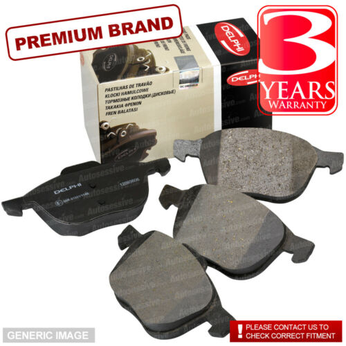 Rear Brake Pads VW Caddy 1.9 TDI Box MK III 01-13 Diesel 105HP Delphi LP1824