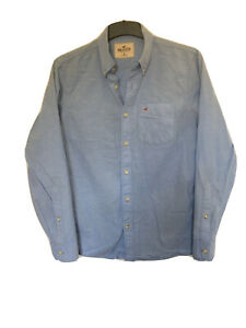 Hollister-Mens-Blue-Cotton-Long-Sleeve-T-Shirt-M-C588