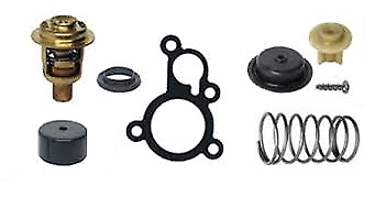 Thermostat /& Poppet Valve Kit 30HP 40HP Mercury Mariner 2-Stroke Outboard