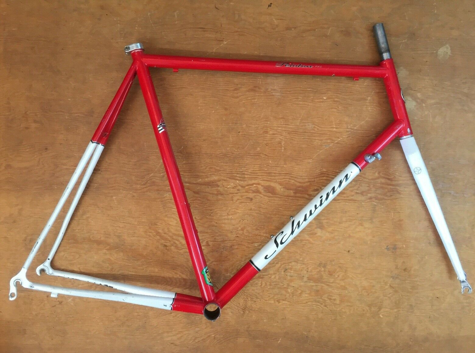 Schwinn Peloton Pro Reynolds 853 60cm Cadre & Fourche Vélo Route Frameset rouge