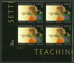 3556-34c-Mentoring-A-Child-Plate-Blk-S11111-LL-Mint-ANY-4-FREE-SHIPPING