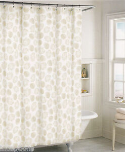 Image Is Loading Coastal Collection Cotton Fabric Shower Curtain Clam Shells