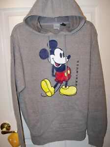 Jacket Mens Size Mickey Small Nwt Disney Hoodie Mouse Gray gvaIf