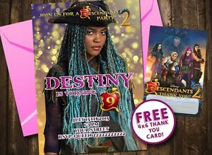 Image Is Loading Descendants 2 Uma Birthday Party Invitation Personalized U