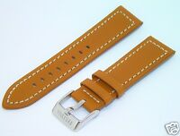 Premium Original Festina 24mm Thick Brown Saddle Leather Stitched Watch Band