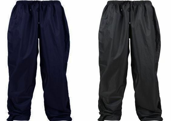 Gentle Kam Water Proof And Breathable Rain Over Pants Is Size 2xl To 8xl, Black & Navy