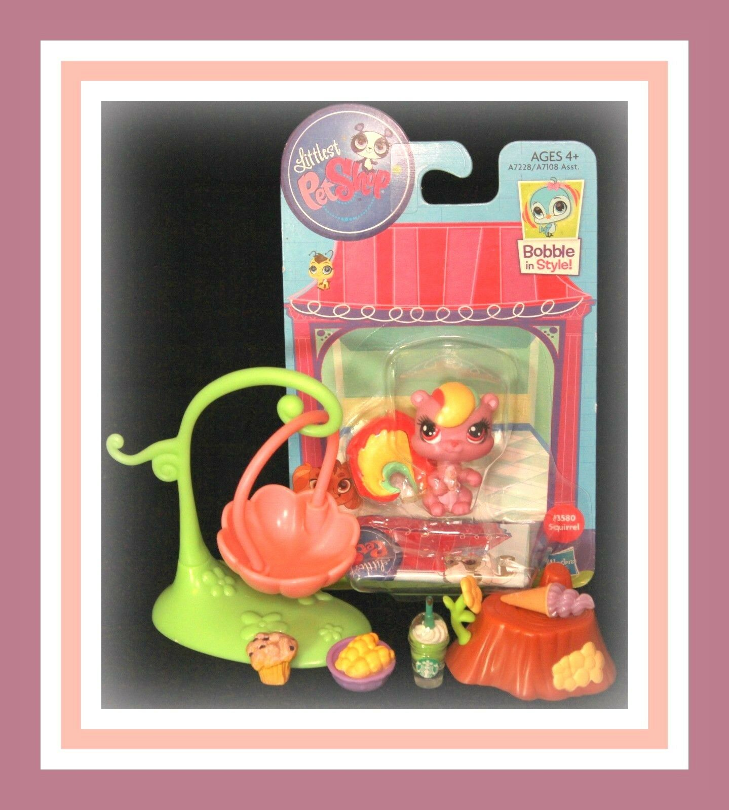 ️NEW Littlest Pet Shop LPS Rainbow SQUIRREL SQUIRREL SQUIRREL Bobble in Style NIB Set ️ 8ef91b