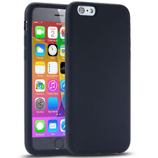 Soft Rubber Silicone Gel Case for iPhone 6 / 6s - Black - UK Seller