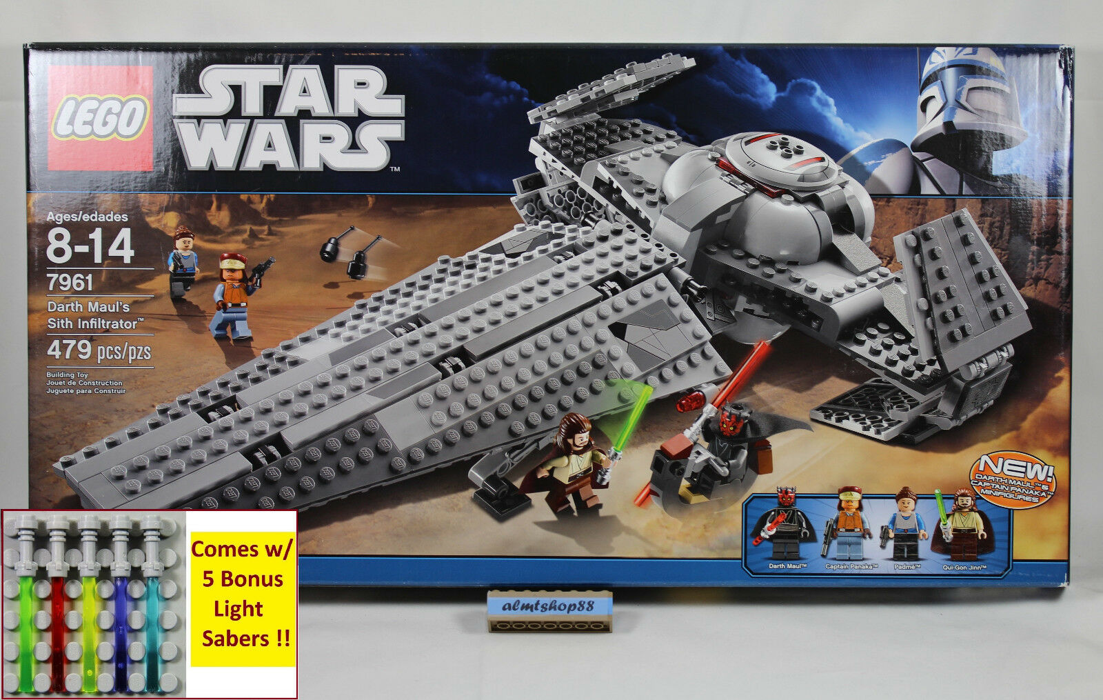 Lego Star Wars-Darth Maul's Sith Infiltrator 7961 NISB Padme quigon Minifigura