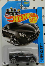 ALFA ROMEO 8C BLACK SPORTS CAR CITY COMPETIZIONE 2014 29 HW HOT WHEELS