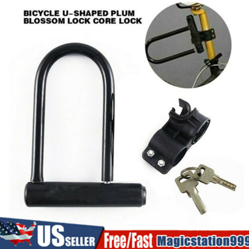 Bike Bicycle U Lock Bicycle Heavy Duty Combination Anti-Theft Security Black 1PC