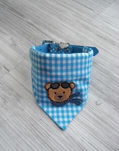 Halsbandlaenge-27-33cm-Hundehalstuch-Hundekleidung-Hundetuch-Halsband-Glitzer