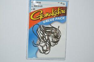 gamakatsu octopus hook size 2 nickel 25 per pack # 02009-25 value pack hooks