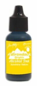 MéThodique Ranger Adirondack Alcohol Ink Bottle Sunshine Yellow 0.5 Fl. Oz Tab25559-afficher Le Titre D'origine