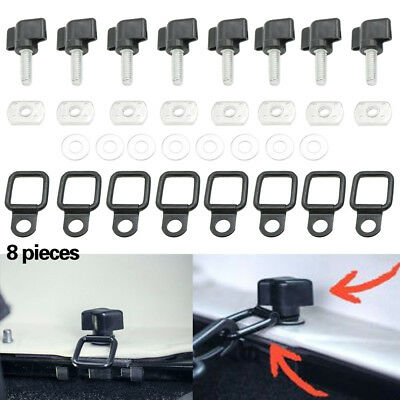 2007 to 2019 Jeep Wrangler JK Easy On Off Hard Top Fasteners Nuts Bolts KIT