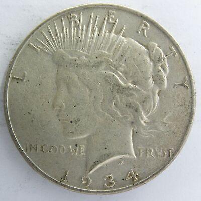 41519 1934-D Peace Silver Dollar XF Denver Mint