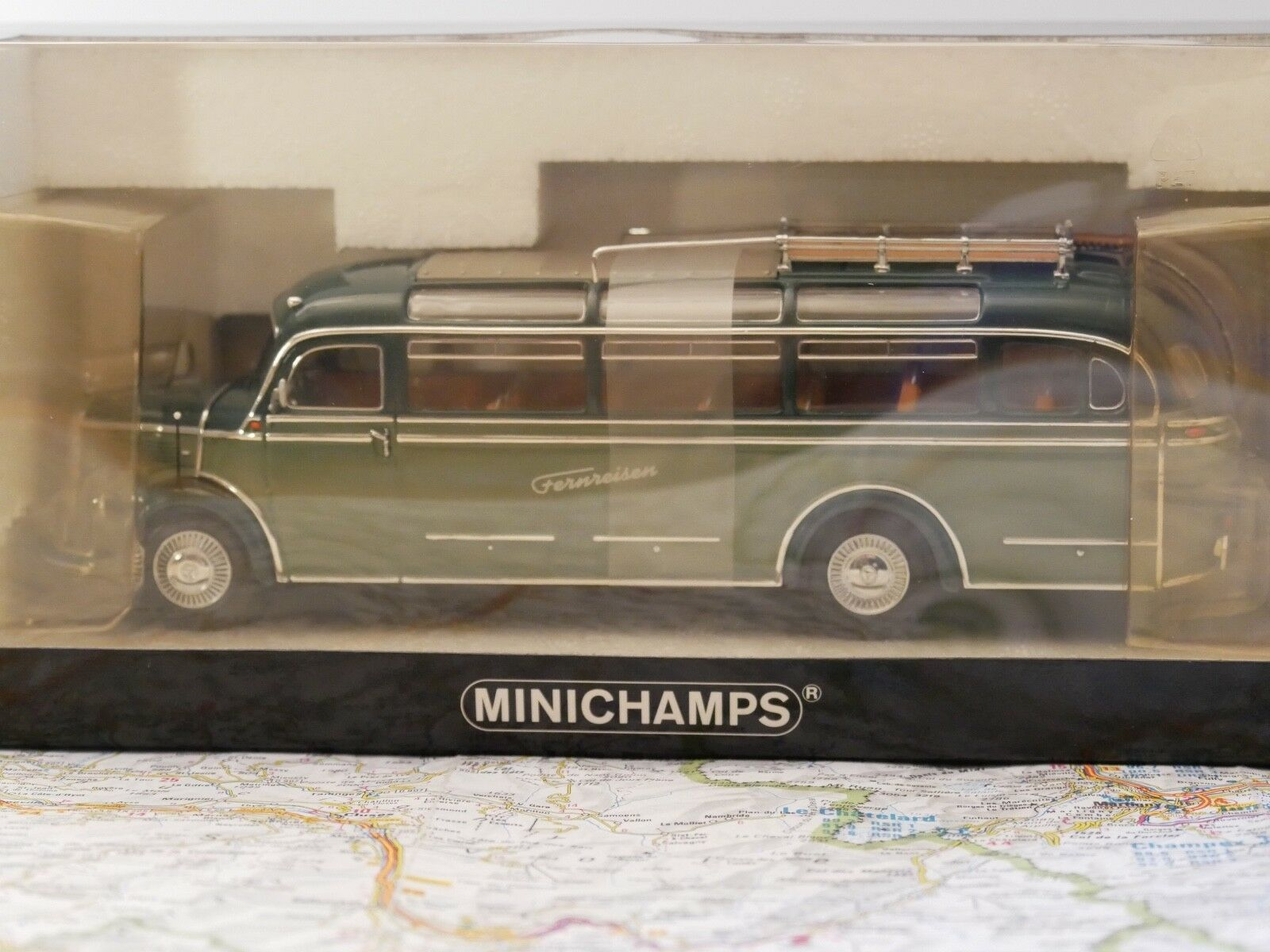 MINICHAMPS MERCEDES BENZ 0 3500 BUS 1955   FERNREISEN  1 43 ART.439360004 NEW