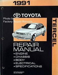 1991 Toyota Tercel Factory Service Manual Original Shop Repair Book Ebay