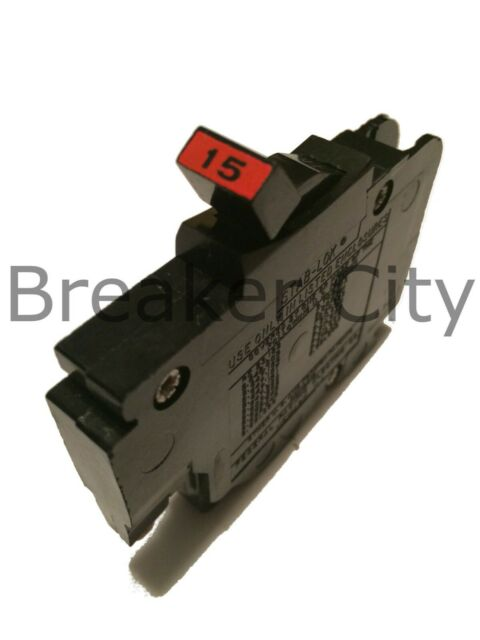 """/""""5/"""" FPE 15 Amp 1 Pole Stab-Lok Type /'/'NC/'/' Thin Federal Pacific Breakers NC115"""
