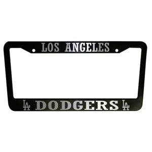 2 Units Los Angeles Dodgers La Black Plastic License Plate