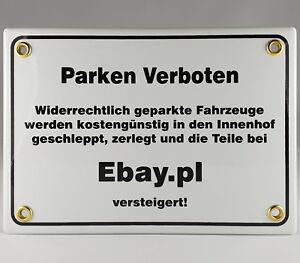 Nr 27 Emailschild Parken Ebay Pl Original Emaille Coole