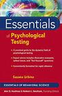 Essentials of Psychological Testing by Susana Urbina (Paperback, 2004)