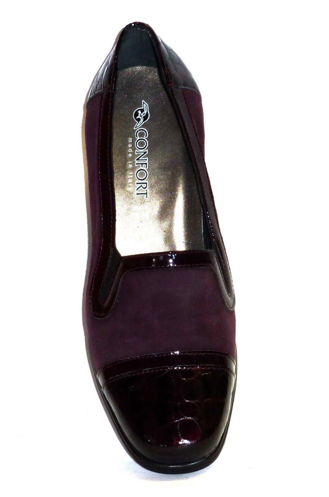 Schuhe Damens CONFORT IN VERNICE VERNICE VERNICE COCCO E NABUK BORDO' CALDO INVERNO MORBIDE n. 36 0bf6c0