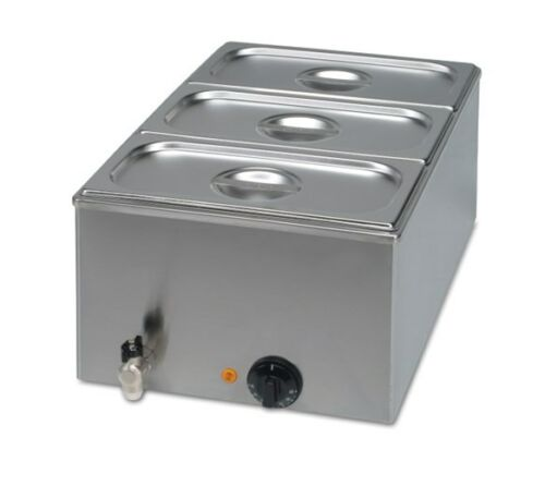 Special Offer FREE P/&P 3x1//3 GN Pans Drain Tap Wet Commercial Bain Marie