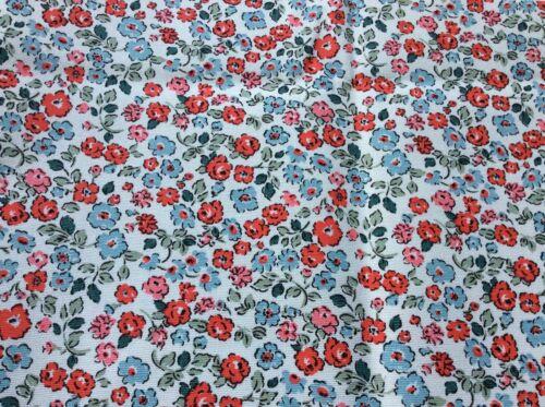 Cath Kidston Dulwich NAIF tessuto di cotone anatra NUOVO 152 CM x 20 cm