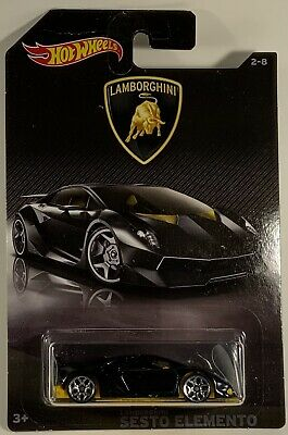 2017 Hot Wheels Lamborghini Sesto Elemento Lamborghini Series 2//8 Black HW280