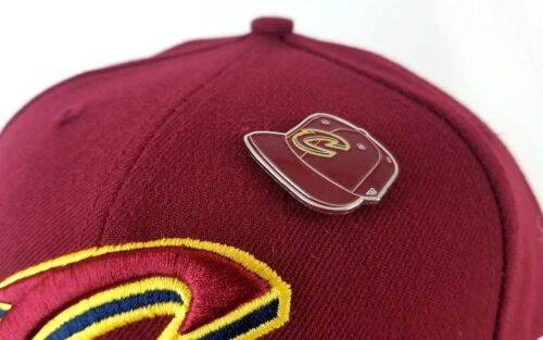 New Era Metal Pin Cleveland Cavaliers Burgundy 59Fifty Fitted Hat