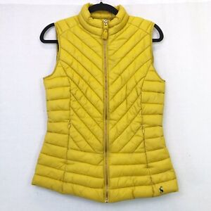 Joules-Brindley-Quilted-Gilet-Sleeveless-Jacket-Antique-Gold-Yellow-UK-Size-6