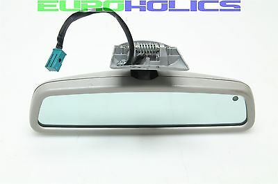 OEM MERCEDES W210 E430 00-02 Interior Rearview Mirror Homelink GRAY