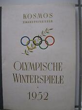 Olympische Winterspiele 1952 Norwegen Sammelbilderalbum Kosmos Zigaretten kompl.
