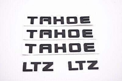 1x Tahoe Nameplate Emblem Fender Side Door Sticker Letter Badge Replacement for Chevrolet Gm 2007~2016 Matte Black