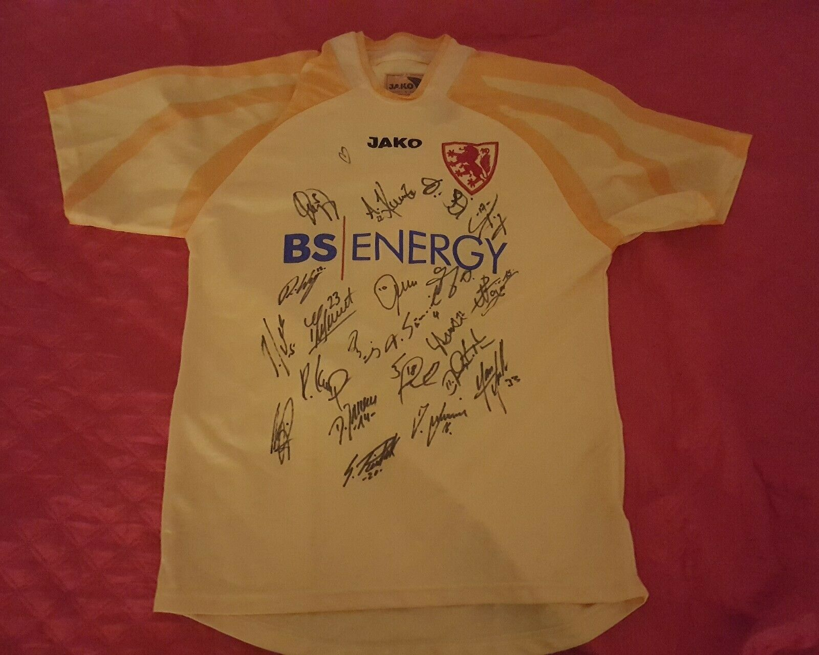 Eintracht marrónschweig Jako Trikot 2003 04  BS ENERGY  signed football shirt