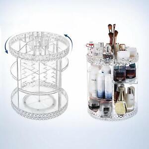360-Drehbarer-Kosmetik-Organizer-Make-up-Aufbewahrung-Staender-Kosmetikbox-Acryl