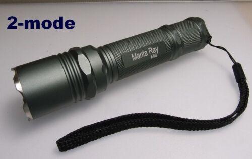 Manta Ray M6 with CREE XM-L2 U2 emitter 2-mode Flashlight  #571