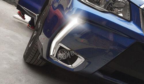 LED Daytime Running Fog Light Lamp DRL w Signal For Subaru Forester XT 2013-2015