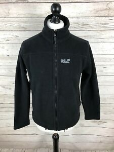 sale retailer 9954e ec90e Details about JACK WOLFSKIN Fleece Jacket - Small - Black - Great Condition  - Men's