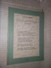 QUESTE PAROLE SEGNO Poesie 1984 1995 Lorenzo Gigliotti Ripostes 1995 letteratura