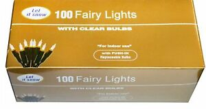 de4af8f68 Image is loading Traditional-Christmas-Fairy-Lights-100-Clear-Bulbs-Xmas-