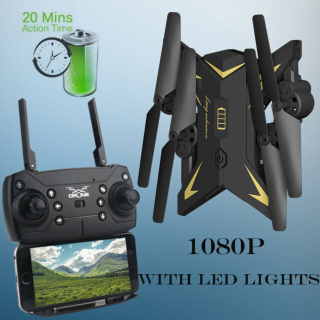 WIFI FPV 4CH Foldable Arm RC Quadcopter With 1080P 5.0MP Camera Selfie Drone USA
